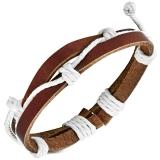 "Nahkaranneke ""Fashion 2-Strand Wrap Rope Adjustable Leather Bracelet"""