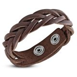"Nahkaranneke ""Braided Leather Snap Bracelet"""