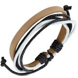 "Nahkaranneke ""Multi-Strand Brown Leather"", säädettävä pituus"