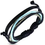 "Nahkaranneke ""Multi Color Wrap Leather"", säädettävä pituus"