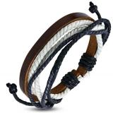 """Nahkaranneke """"Multi Color Wrap Rope  Leather"""", säädettävä pituus"""