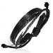 """Nahkaranneke """"Black Wrap Rope Leather"""", säädettävä pituus"""