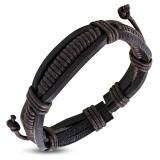 "Nahkaranneke ""Brown Rope Leather"", säädettävä pituus"