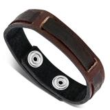 """Nahkaranneke """"Brown Leather Weave"""", säädettävä pituus"""