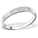 """Hopeasormus Zirkoneilla """"Silver Classic Round Ring with Cubic Zirconia"""""""