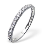"Hopeasormus Zirkoneilla ""Silver Crystal Sprinkled Ring"""
