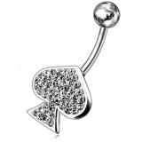 "Napakoru Fancy Jeweled Navel Ring ""Spade"""