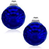 """Kirurginteräs korvakorut """"Stainless Steel Sea Blue Glass Balls Stud Earrings"""""""