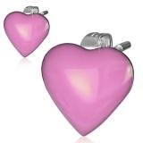 """Kirurginteräs korvakorut """"Stainless Steel 2-tone Pink Love Heart Stud Earrings"""""""