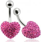 """Napakoru Crystal with Heart Shape """"Pink"""""""