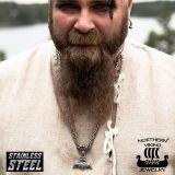 "Northern Viking Jewelry-Riipus ""Black Silver Thor's Hammer"""