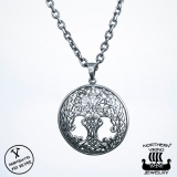 Northern Viking Jewelry® 925-Hopea Tree Of Life-Riipus