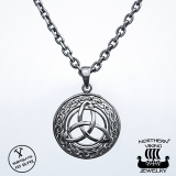 Northern Viking Jewelry® 925-Hopeariipus Triquetra