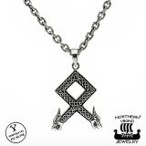 Northern Viking Jewelry® 925-Hopea Othala-riimu Riipus