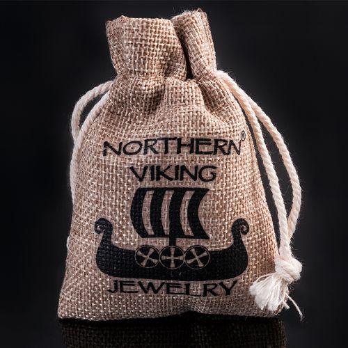 "Northern Viking Jewelry® 925-Hopeariipus ""Guardian Wolf"""