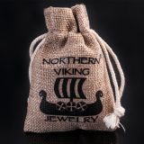 "Northern Viking Jewelry®-Kaulakoru ""6 mm Ankkuriketju + Vegvisir"