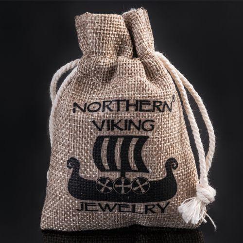 "Northern Viking Jewelry® 925-Hopeariipus ""Algiz Axehead"""