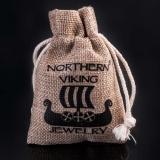 "Northern Viking Jewelry® ""925 Oksidoitu Valknut-Korvakorut"""