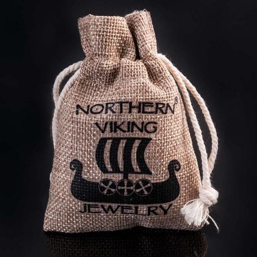 Northern Viking Jewelry® Kuningasketju Sudenpäillä + Korpiklaani Noitarumpu -Riipus