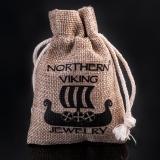 Northern Viking Jewelry® Hopeiset Wolf Cross-Korvakorut