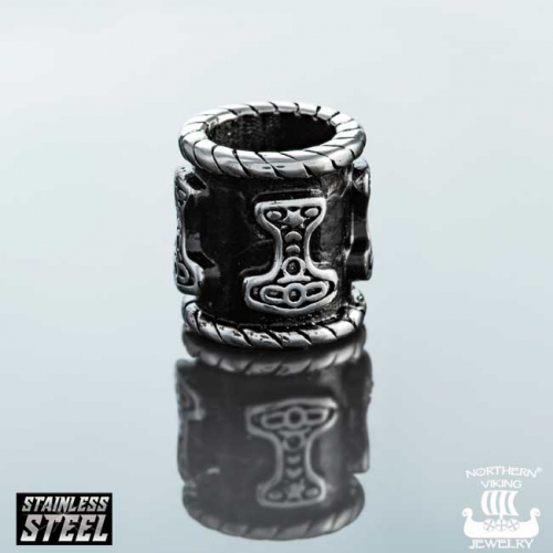 "Northern Viking Jewelry-Partakoru ""8 mm Black Thor"""