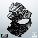 "Northern Viking Jewelry-Sormus ""Wolf Head Ring"""