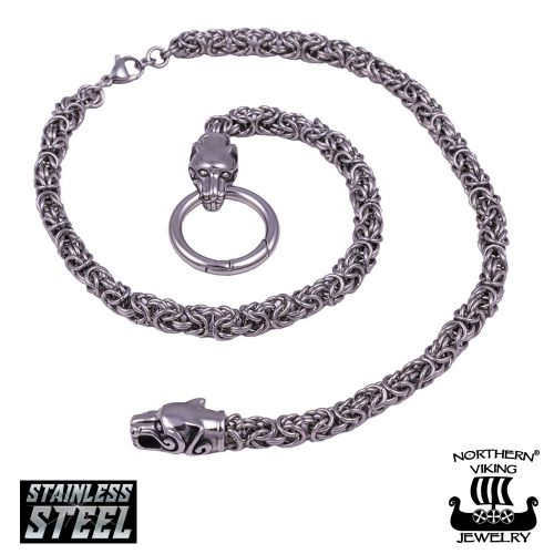 Northern Viking Jewelry® Kuningasketju Sudenpäillä