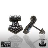 Northern Viking Jewelry® Steel Thorin Vasara Korvakorut