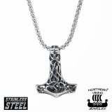 "Northern Viking Jewelry-Riipus ""Celtic Knot Thor's Hammer"""