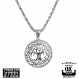 "Northern Viking Jewelry-Riipus ""Shiny Silver Tree Of Life"""