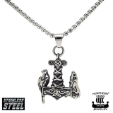 """Northern Viking Jewelry® """"Raven Wolf Thorin Vasara"""""""
