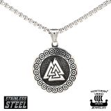 "Northern Viking Jewelry®-Riipus ""Steel Valknut"""