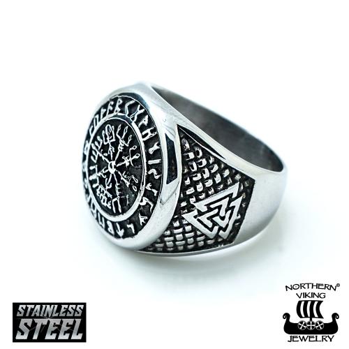 "Northern Viking Jewelry®-Sormus ""Vegvisir"""