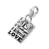 "Hopeinen keräilykoru ""Silver Love Charm With Lobster"""