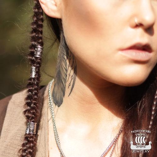 """5 mm Northern Viking Jewelry-Partakoru """"Thor's Hammer"""""""