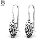 "Hopeiset Pöllökorvakorut ""Silver Owl Earrings"""
