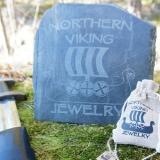 Northern Viking Jewelry® 925-Hopea Thorin Vasara Korvakorut