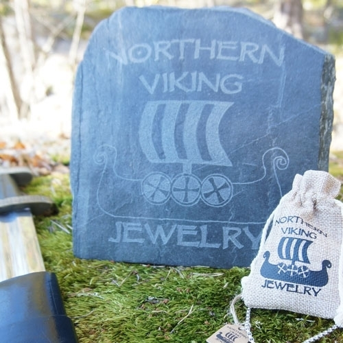 Northern Viking Jewelry® 925-Hopea Thorin Vasara Korvakorut