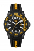 Caterpillar-Kello Drive Date Black/Yellow Dial silicone  45,5 mm PW.161.21.127