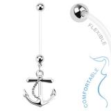 Napakoru Anchor Dangle Bio Flex Pregnancy Navel Ring