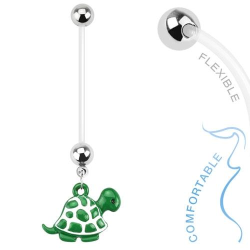 Napakoru Turtle Dangle Bio Flex Pregnancy Navel Ring