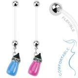 Napakoru Baby Bottle Dangle Bio Flex Pregnancy Navel Ring
