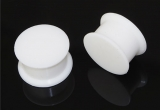"Silicone Flesh Plug ""White Heat"""