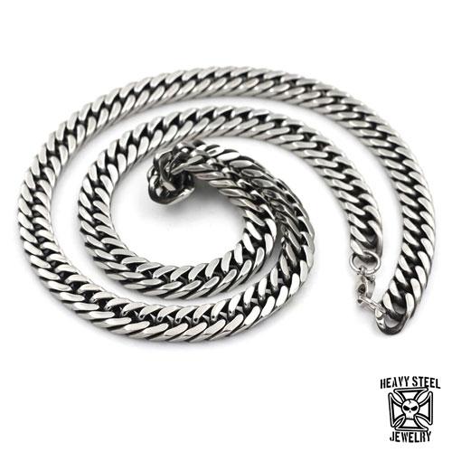"""Heavy Steel Jewelry-Panssariketju """"8 mm Retro Black Inside Steel"""""""