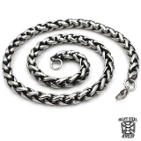 "Heavy Steel Jewelry-Kaulaketju ""10 mm Retro Black Inside Steel"""