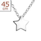 "Hopeariipus + Hopeaketju ""Plain Silver Star Necklace"""