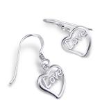 """Hopeiset korvakorut """"Silver heart Plain Earrings"""""""
