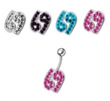 "Napakoru ""Jeweled 69 shaped Belly Ring"""