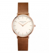 Rosefield Tribeca White-Brown-Rosegold (TWBRRC-T55)
