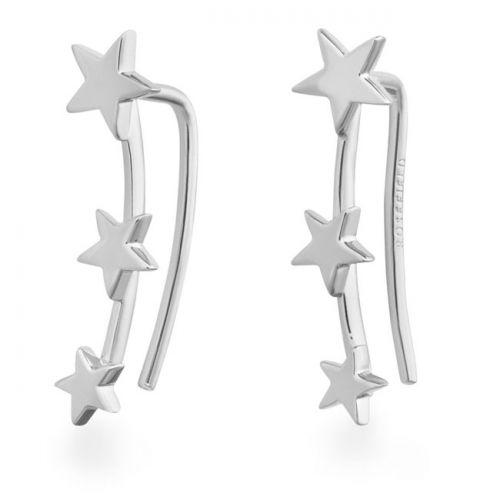 Rosefield - Triple star silver - korvakorut hopeoitu